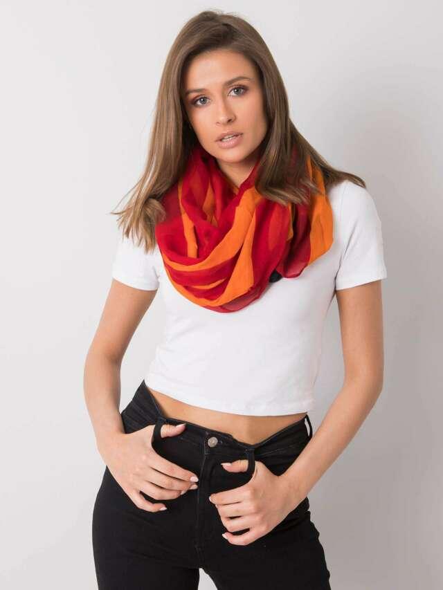 Dámský červený a oranžový šátek - jedna velikost