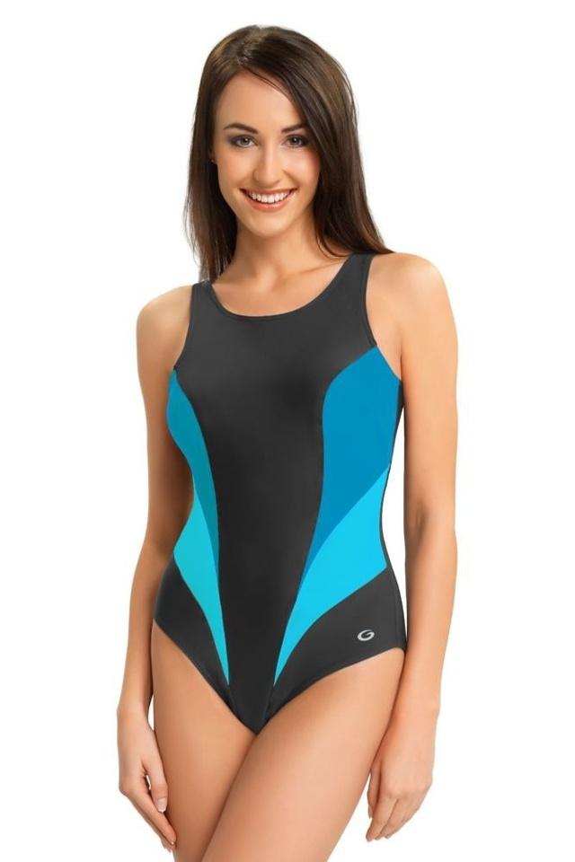 Jednodílné sportovní plavky Daisy šedé - S e94432e717