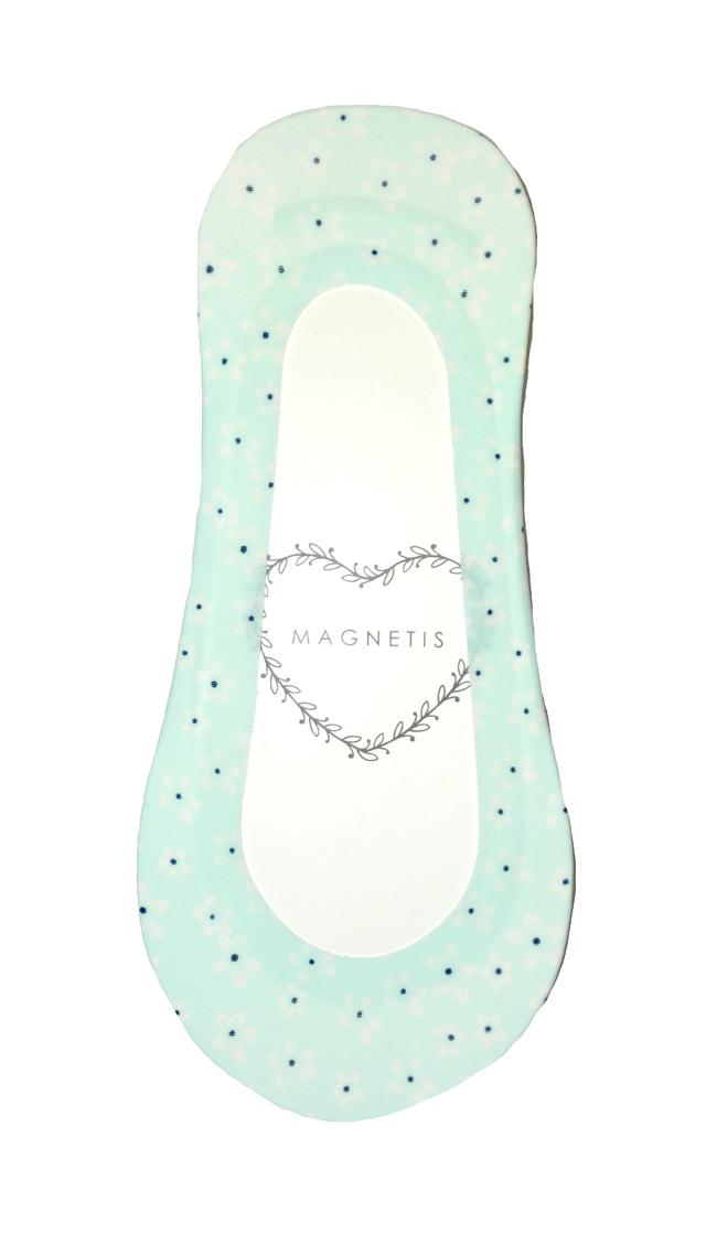 Dámské ponožky baleríny Magnetis Laser Pastel Silikon ABS - univerzální - bílá