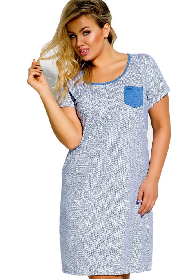 Noční košile 2190 Lucy 01 - 3XL - světle modrá