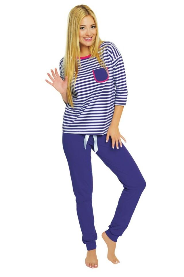 Dámské pyžamo Malaga blue - M - modrá