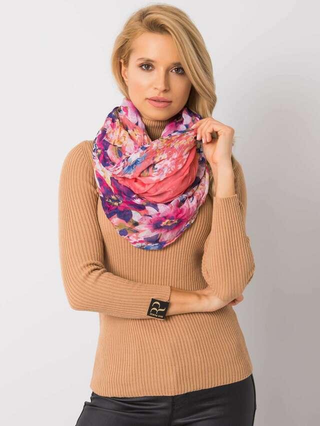 Korálový květinový šátek - ONE SIZE