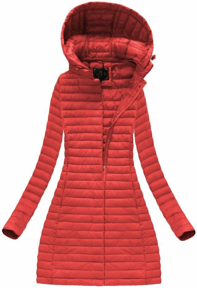 Červená dámská prošívaná bunda (7222BIG) - 48 - červená