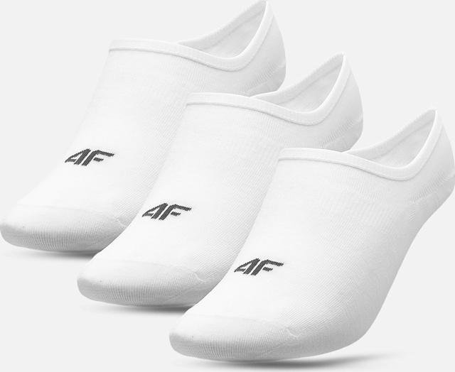 Dámské nízké ponožky 4F SOD301 Bílé (3páry) - 39-42 - Bílá