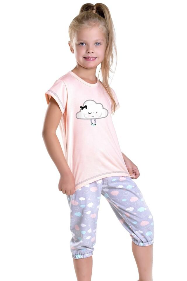 Dívčí pyžamo Tola meruňkové - 128