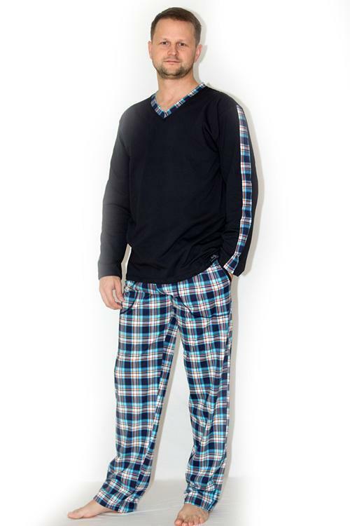 Pánské pyžamo Nelly Robin DL - granat