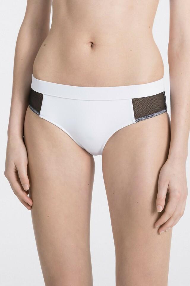 Spodní díl plavek KW0KW00234-100 bíločerná - Calvin Klein