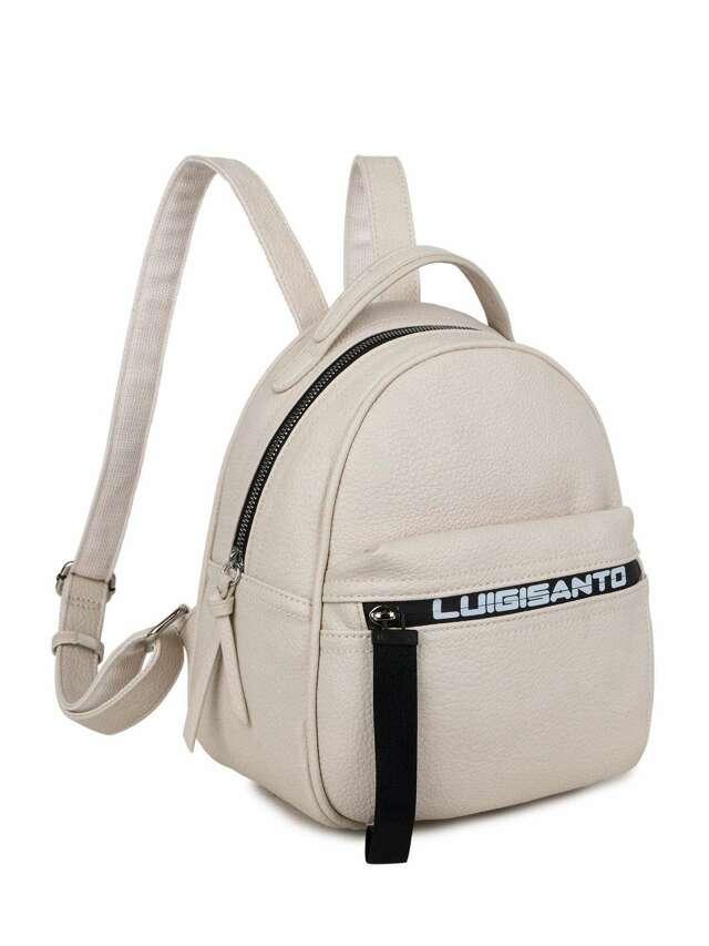 Dámský béžový batoh LUIGISANTO - jedna velikost