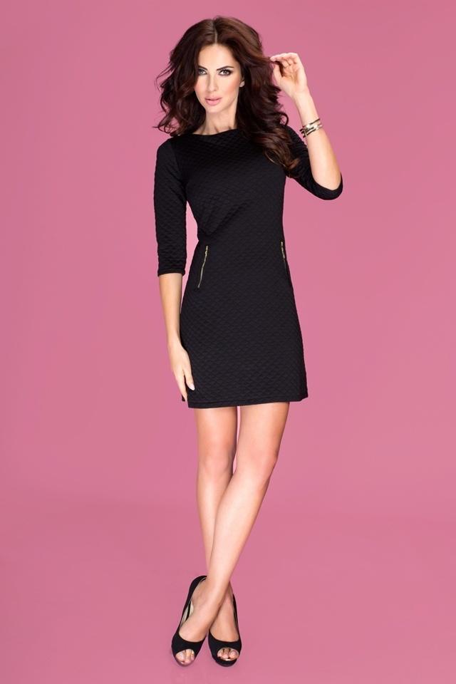 Černé šaty se zipy 38-1