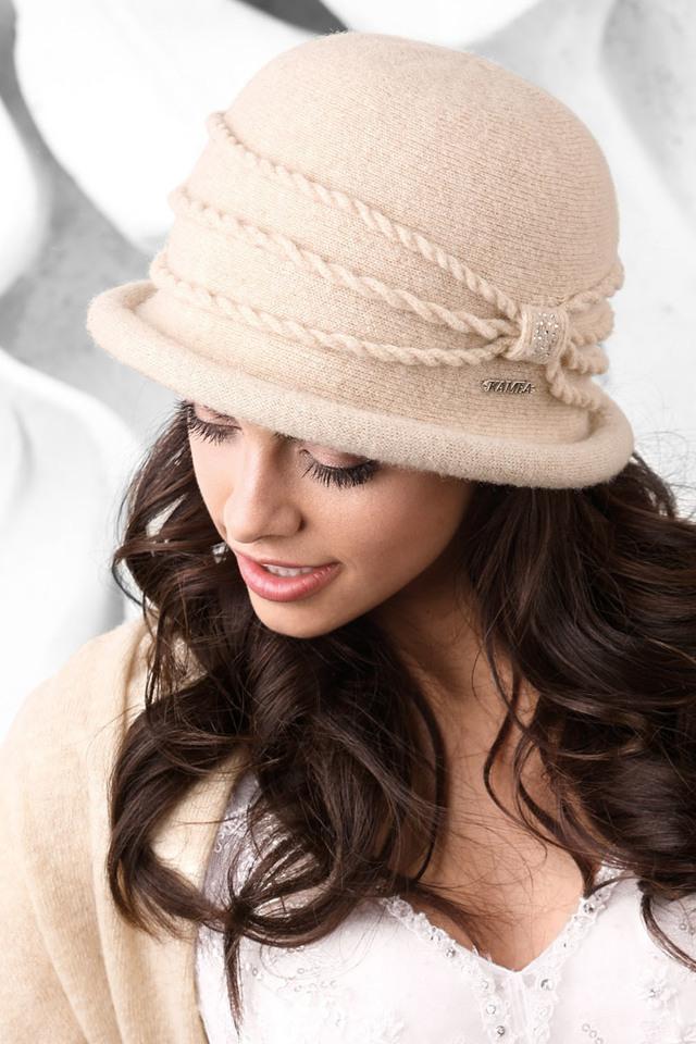 Dámský klobouk Kamea Venecja - UNI - béžová