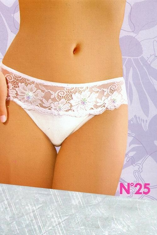 Dámské kalhotky 25 white - M - bílá