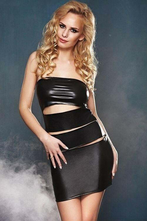 Erotické šaty Asta - S/M - černá