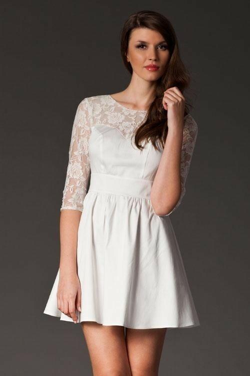 Dámské šaty 144 - Figl - S - vanilka
