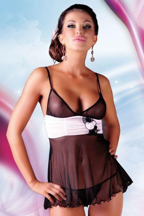 Erotická košilka Fiore black - M/L - černá