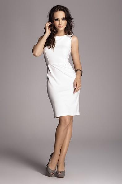 Dámské šaty M079 - Figl - L - bílá