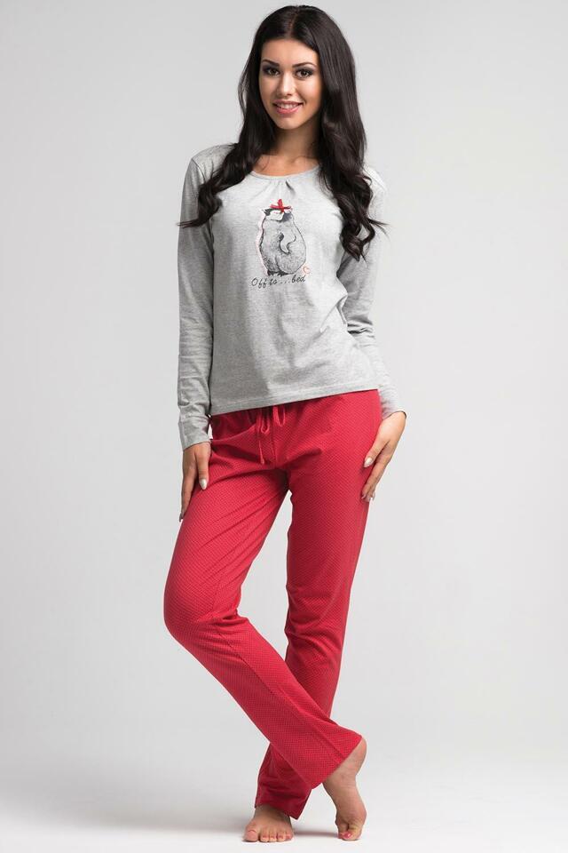 Dámské pyžamo Rossli SAL-PY 1021 - XL - světle šedá