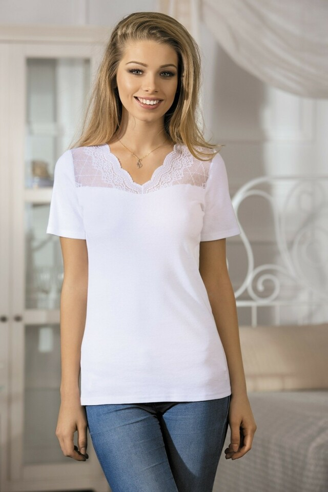 Dámské tričko Axel bílé - M