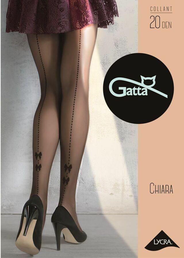 Dámské punčochové kalhoty CHIARA - 04 - GATTA - černá - 2-S