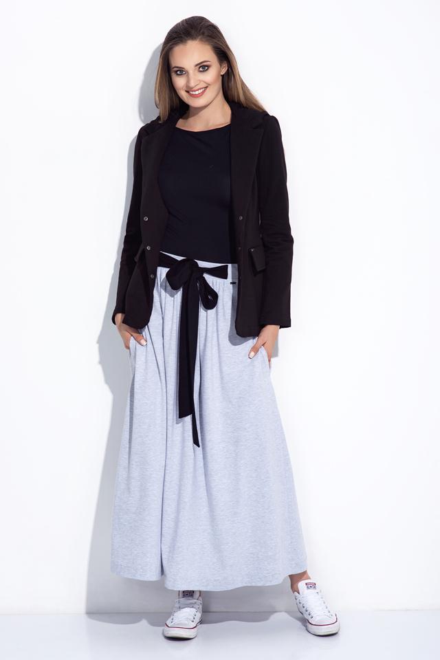 Dámská sukně dlouhá 252 - Bien Fashion - XXL - šedá melange