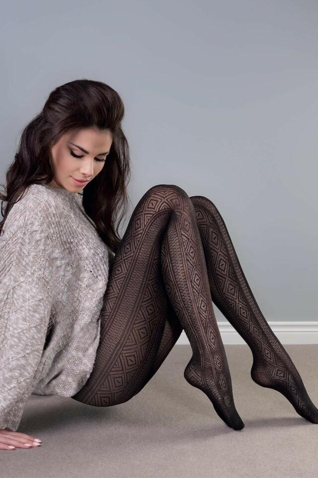 Dámské punčochové kalhoty Gabriella Estera code 411 - 2-S - nero