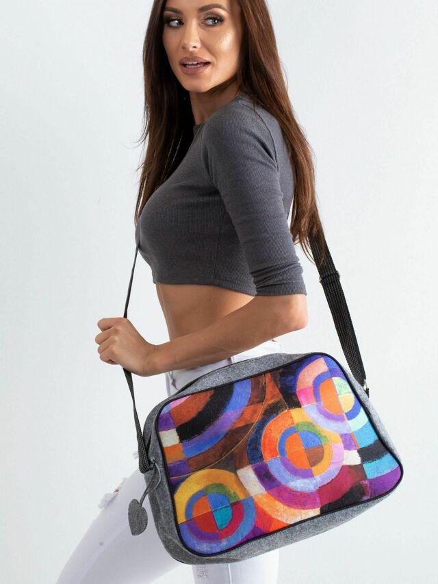 Městská plstěná taška s potiskem - jedna velikost