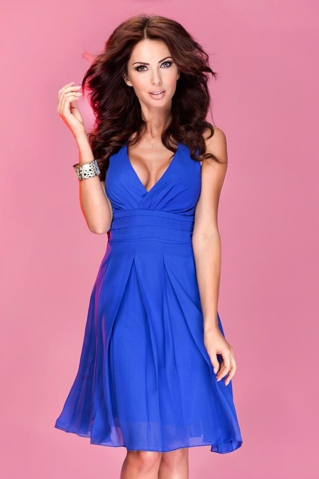 Modrofialové šifonové šaty 35-1