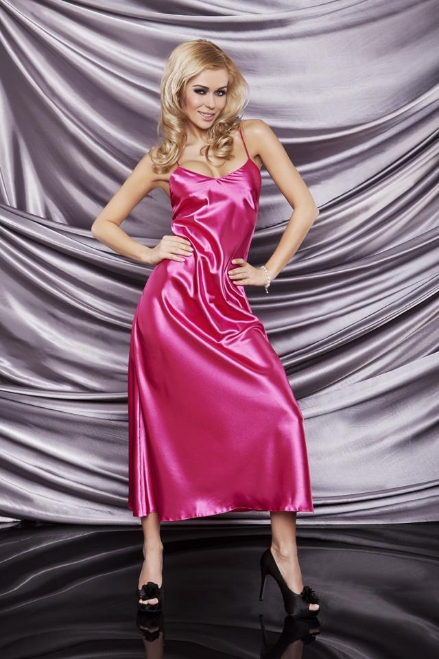 Dámská košilka Iga dark pink - XXL - tmavě růžová