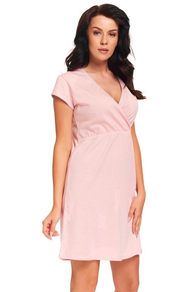 Kojicí noční košile Monita růžová - M - růžová
