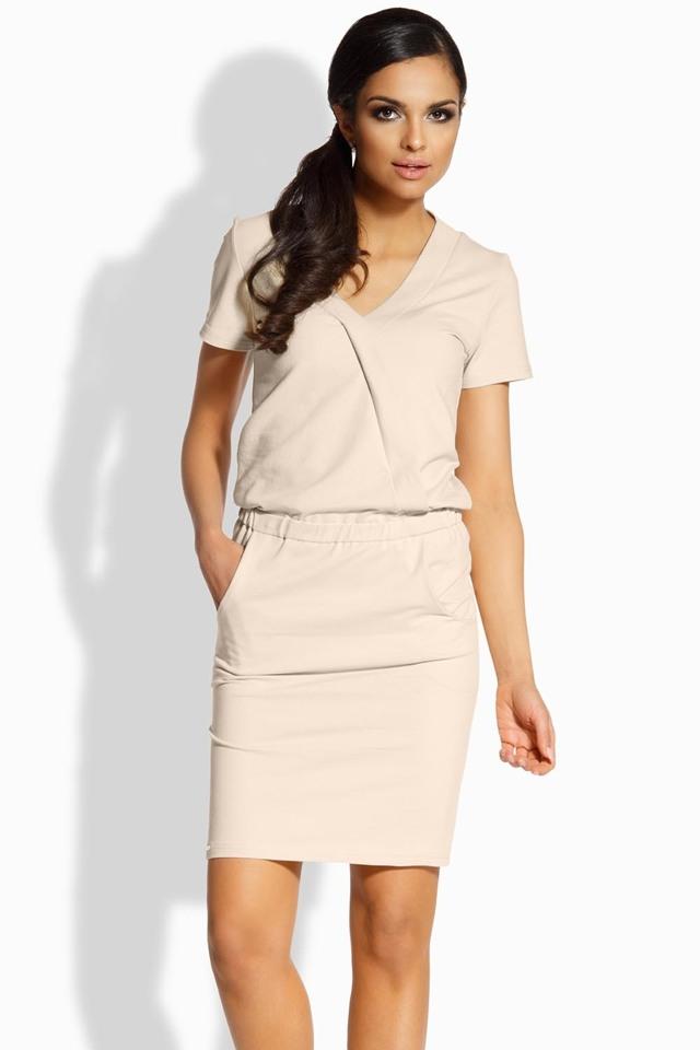 Dámské šaty Lemoniade L196 - M - béžová