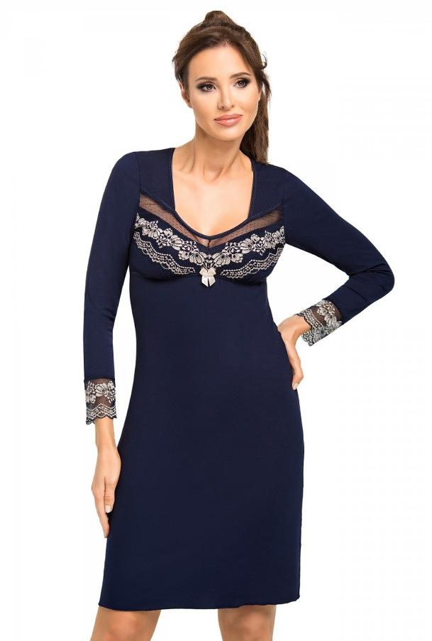 Dámská noční košilka Donna Jasmine II - L - tmavě modrá