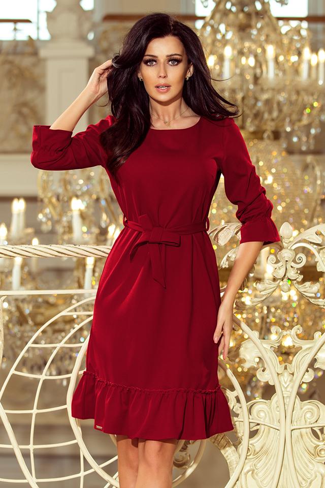 Dámské šaty 193-7 - L - vínová