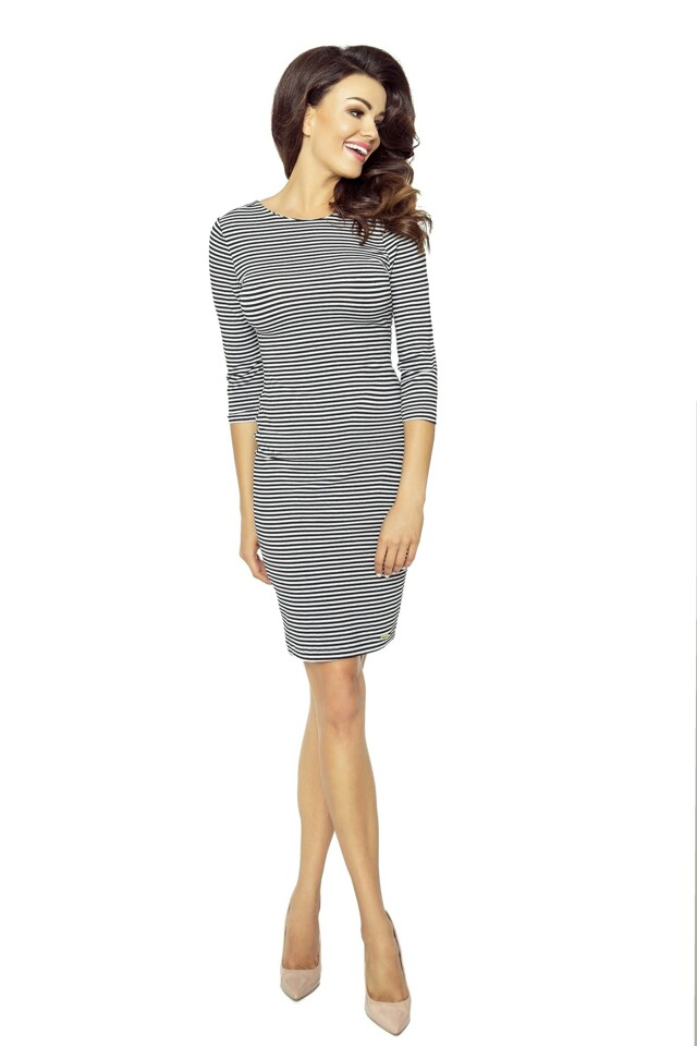 Dámské šaty M50628-CN16-1 - BERGAMO - M - černo-bílá