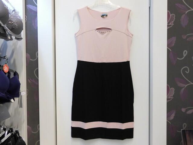 Dámské šaty Jaruš T 05 32J SW - Favab - M - růžovo-černá