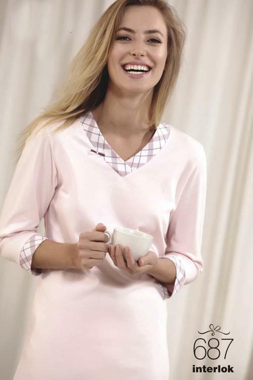 Noční košilka Cana 687 - XL - světle růžová