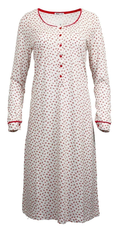 Dámská noční košile 3533 - Vamp - 3XL - bílo-červená