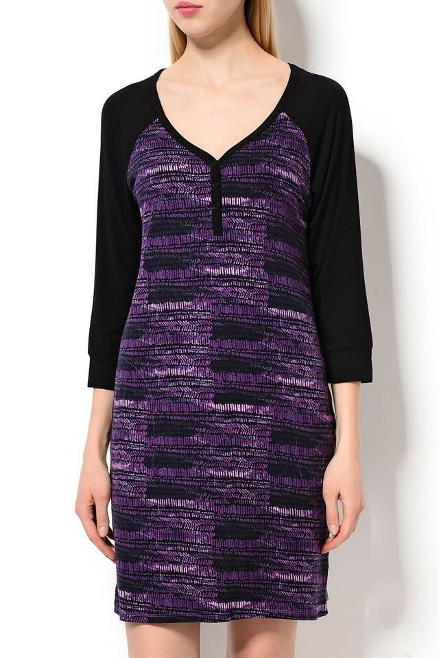 Dámská noční košile YI2313487 - DKNY - XS - černobílá