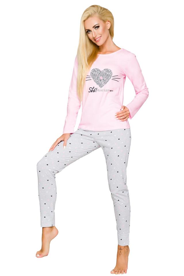 Dámské pyžamo Gala světle růžové - L