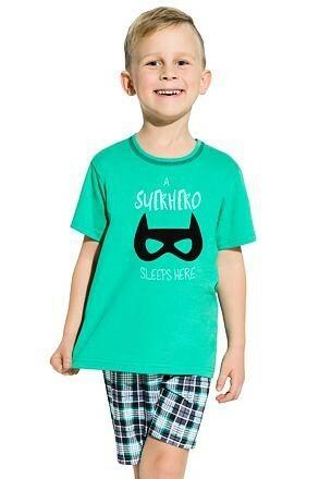 Chlapecké pyžamo Damian Superhero zelené