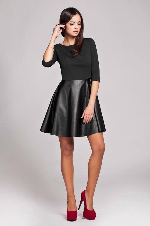 Šaty Figl 162 - XL - černá