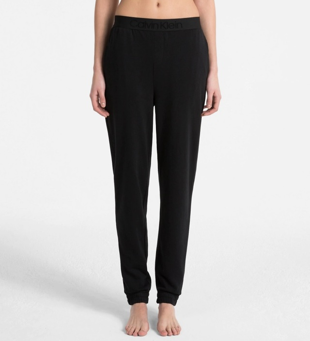 Dámské kalhoty na spaní QS6163E-001 černá - Calvin Klein - XS - černá