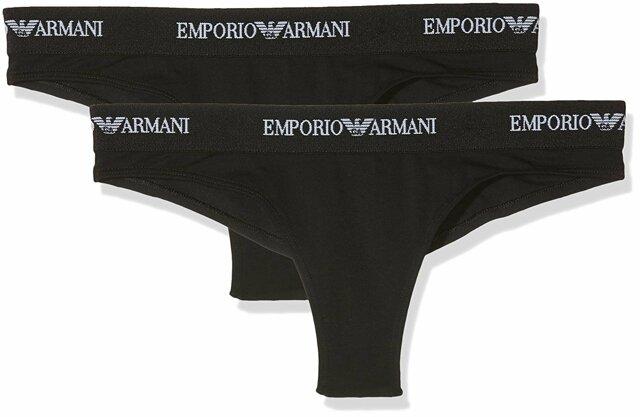 Kalhotky 2pcs 163337 CC317 07320 černá - Emporio Armani