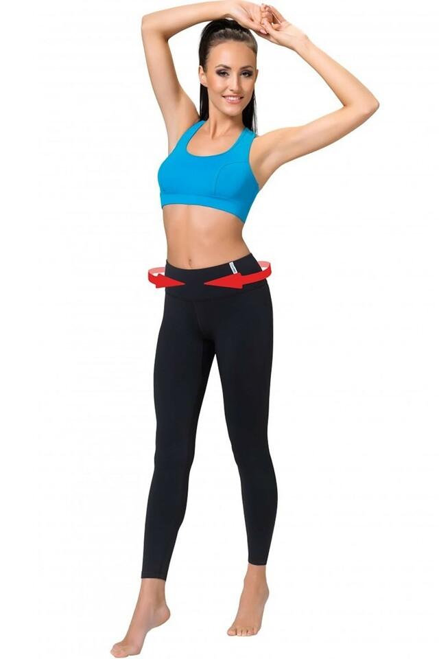 Fitness legíny Slimming leggins - S - černá