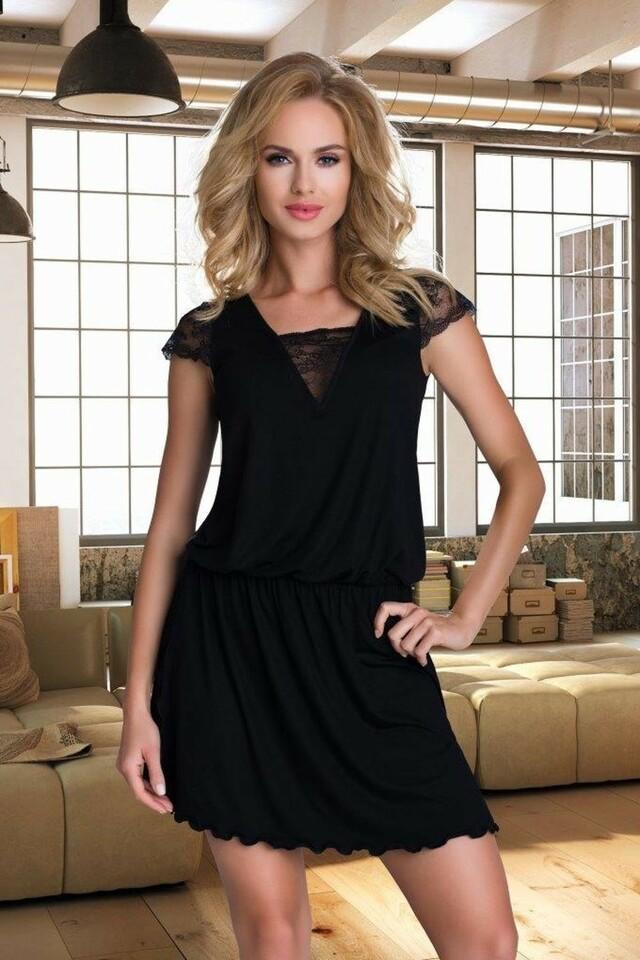 Dámská košilka Dalila black - S - černá