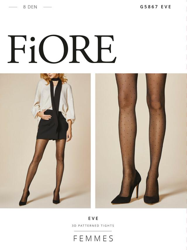 Punčochové kalhoty Fiore Eve G 5867 8 den 2-4 - 3-M - black-dusty rose/černá-růžová