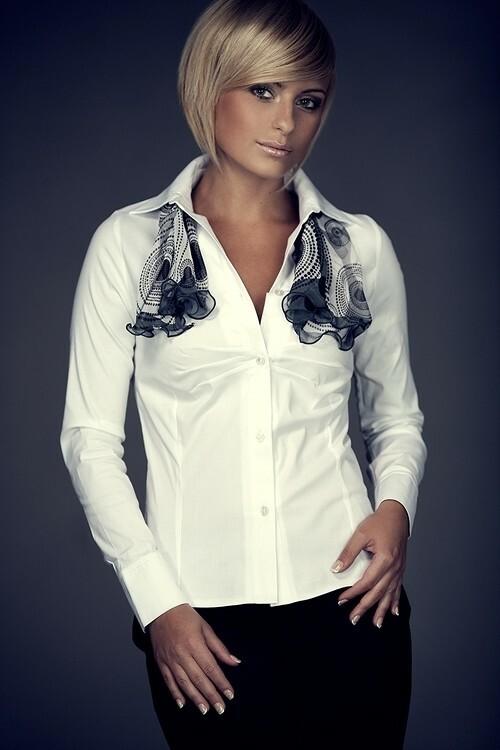Dámská košile M021 white - XL - bílá