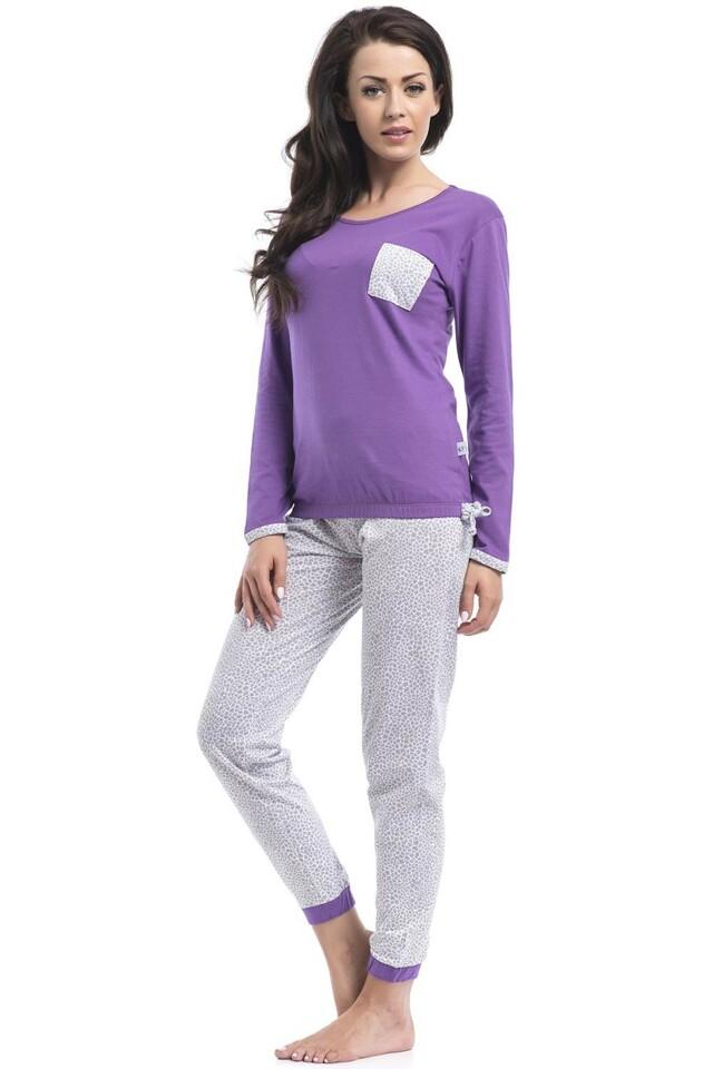 Dámské pyžamo Dobranocka PM.8023 - L - fialová