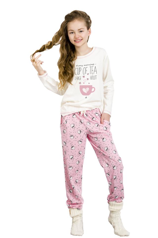 Dívčí pyžamo Sára smetanové - 146
