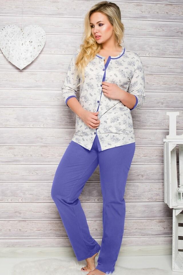 Dámské pyžamo 2126 blue - XXL - tmavě modrá