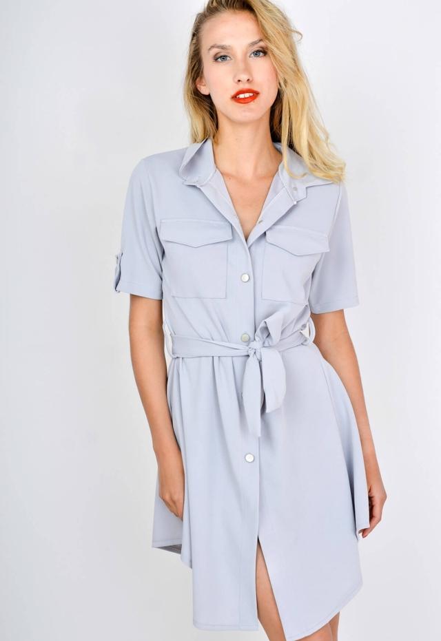 cce095d655d SLEVA košilové šaty - ZOiO - uni - černá