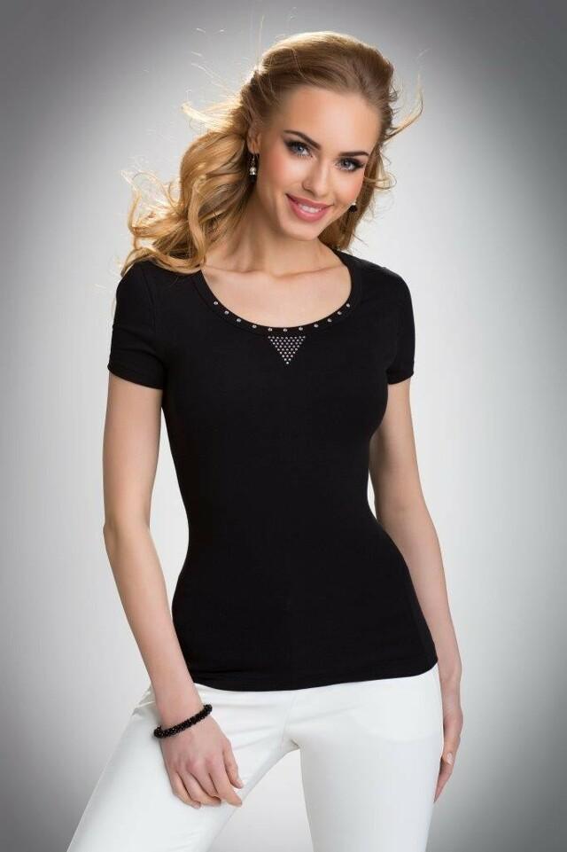 Dámské triko Greta černé - XL